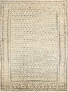 Persian All Over Floral Old Semi Antique Wool Oriental Keshan Area Rug 9x12 Sage