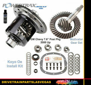 Limited Slip Posi Gm Chevy 7 6 Powertrax 3 73 Gear Set Master Kit Motivator New