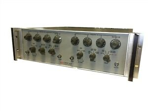Krohn Hite 3342 Dual Channel Input Output Testing Frequency Gain Low Pass Filter