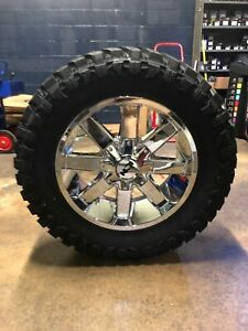 20x9 Ion 141 35 Mt Chrome Wheel And Tire Package 8x170 Ford Super F250 F350