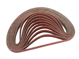 3 4 Inch X 20 1 2 Inch Ceramic Cloth Sanding Air File Belts 10 Pack 80 Grit