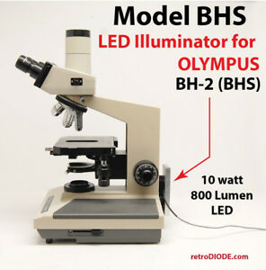 Led Illuminator Retrofit Kit With Dimmer Control For Older Olympus Microscopes
