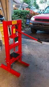 Jegs Performance Products 81518 Hydraulic Shop Press 6 ton Table Top Mount Worki