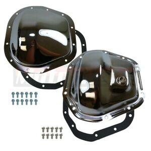 Chrome Ford Super Duty F 250 F 350 Excursion Front Rear Differential Cover 4x4