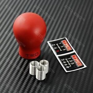 Trd Duracon Manual Racing Shift Knob For Toyota Frs Ae86 Supra Mr2 Mrs Tc Red