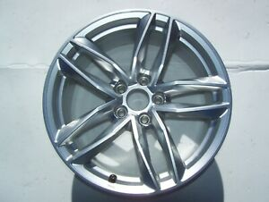 16 2018 Audi A4 Wheel Oem Rim 8x18 Silver 5 Split Spoke 18 Inch Silver 2017 Rs