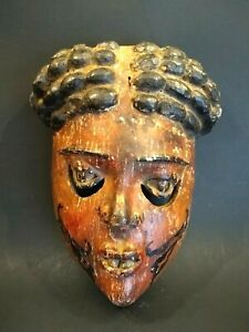 Genuine And Antique African Ibibio Tribe Mask Nigeria Early 20th Century