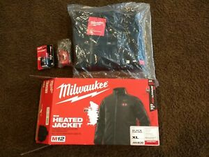 New Milwaukee Tools M12 Heated Jacket xl Extra Large Toughshell with Battery