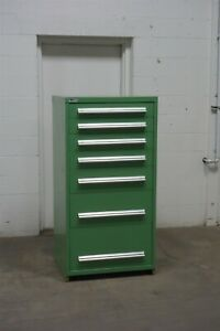 Used Stanley Vidmar 7 Drawer Cabinet Heavy Industrial Tool Storage 1646