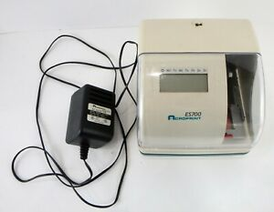 Acroprint Es700 Time Date Employee Time Recorder Clock Used Tested Works