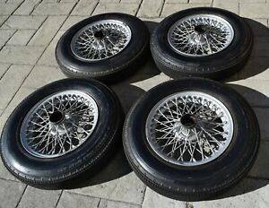 Austin Healey 3000 Wire Wheels And New Dunlop Roadspeed Tires Triumph Mga