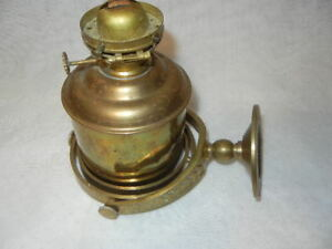Ships Oil Kerrosene Gimbaled Lamp Gyro Solid Brass Nautical Boat