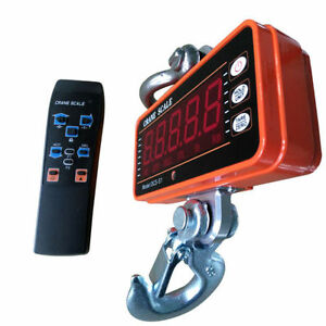 High Precision Heavy Duty Hanging Smart Type 1000kg Led Display Crane Scale New