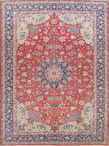 One Of A Kind Persian Floral Handmade Wool Najafabad Oriental Area Rug 10x14