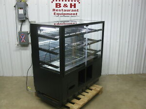 48 Self Serve 2 Door Glass Bakery Donut Dry Display Show Case W Led Lights 4