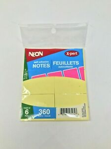 Wholesale Lot Of 6 Pack Self Adhesive Sticky Notes
