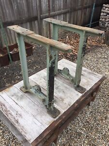 Vintage Industrial Ge Cast Iron Table Legs