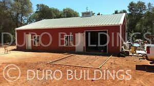 Durobeam Steel 40x50x12 Metal Prefab Building Garage Workshop Structure Direct