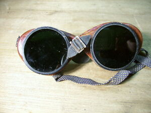 Vintage American Optical Ao Welding Goggles Steampunk Motorcycle Coverglas