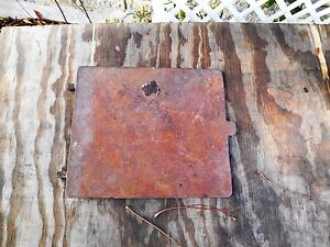 Antique Vintage Cast Iron Wood Stove Plate Cover Lid 6 Inches Wide