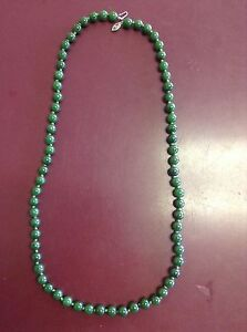 Jade Beaded Necklace 24 Knotted