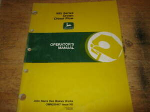 John Deere 685 Chisel Plow Manual