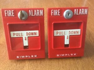 Simplex Fire Alarm Pull Station Bundles Set Of 2 Including 1 Key