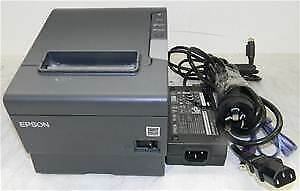 Epson Black Thermal Receipt Serial Printer M244a Tm t88v Complete