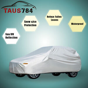 Full Car Cover Waterproof Universal Fit Car Up To 197inch All Weather Protection