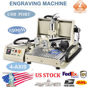 Ac220v 1 5kw Water cooled Vfd Industry Usb Cnc 6040t Router Frame Machine 4 Axis