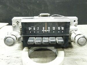1970 71 72 73 74 Ford Truck Radio Am Push Button Deluxe Oem Untested
