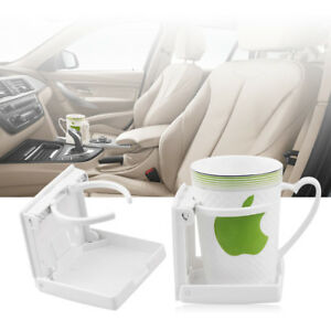 Adjustable Folding Cup Drink Holder Stand Mount White For Auto Boat Rv Van Truck