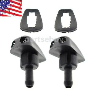 2pcs Plastic Car Auto Window Windshield Washer Spray Sprayer Nozzle Accessory