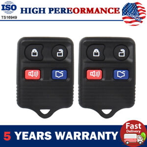 2pcs Remote Car Key Fob For Ford Gt Fusion Explorer Mustang 1999 2004