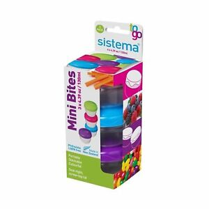 Sistema To Go Collection Mini Bites Food Storage Container 3 Count Free Shipping