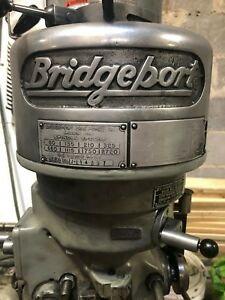 Used Bridgeport Jhead 1 Hp Step Pulley 80 2720 Rpm 230v 3 Phase