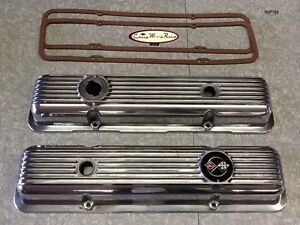 69 74 Camaro Z28 Lt1 69 77 Corvette New Polished Aluminum Valve Cover Covers