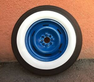 14 Rim 2 5 Wide White Wall Tire Insert Trim Set Of4 Ford Chevy Hot Rod Rat Rod