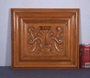 Vintage French Carved Oak Wood Panel W Shell 4 Available