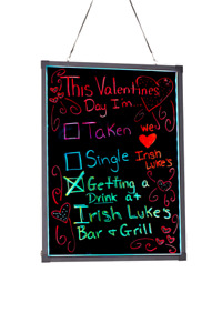 Alpine Aluminum Led Hanging Writing Memo Board Business 24 X 32 Message Sign