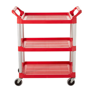 Rubbermaid Lipped Plastic Utility Cart Fg342488red