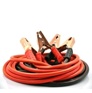 Xincol Heavy Duty 1 gauge 2500a 100 Copper Wire Jumper Cable Booster 20ft
