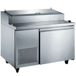 1 One Door Pizza Prep Table 50 Wide Commercial Pizzeria Italian New On Sale
