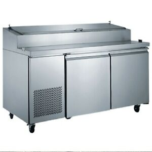 2 Two Door Pizza Prep Table 71 Wide Commercial Pizzeria Italian New On Sale