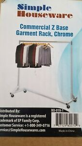 400lb Load Commercial Grade Rolling Z Rack Garment Rack With Nesting Gray Base