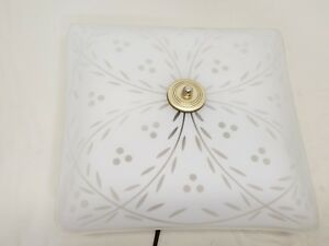 Mid Century Modern Moe Brothers Berry Ceiling Flush Mount Light Fixture Square