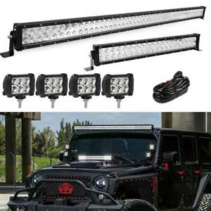 52inch 300w Led Light Bar Combo 22 120w 4 18w For Jeep Wrangler Jk Yj Cj Lj Tj
