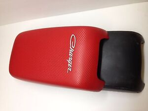 Dodge Charger 2011 2019 Armrest Center Console Cover Red Carbon Fiber
