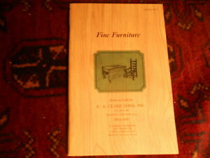 Vintage 1999 E A Clore Fine Furniture Catalog 7 Colonial Style Tables Chairs