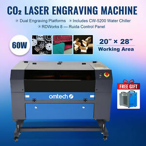 50w Co2 Laser Engraver Cutter Engraving Cutting Machine 300x500 20 12 W rotary